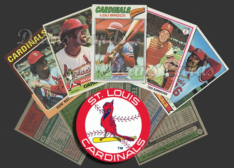 1975 Topps  -79  St. Louis Cardinals 50 Card Team Starter Set / Lot